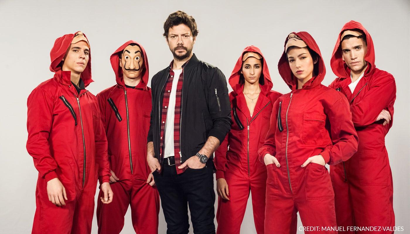 Populares actores de la serie La Casa de Papel
