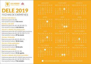 DELE exam calendar
