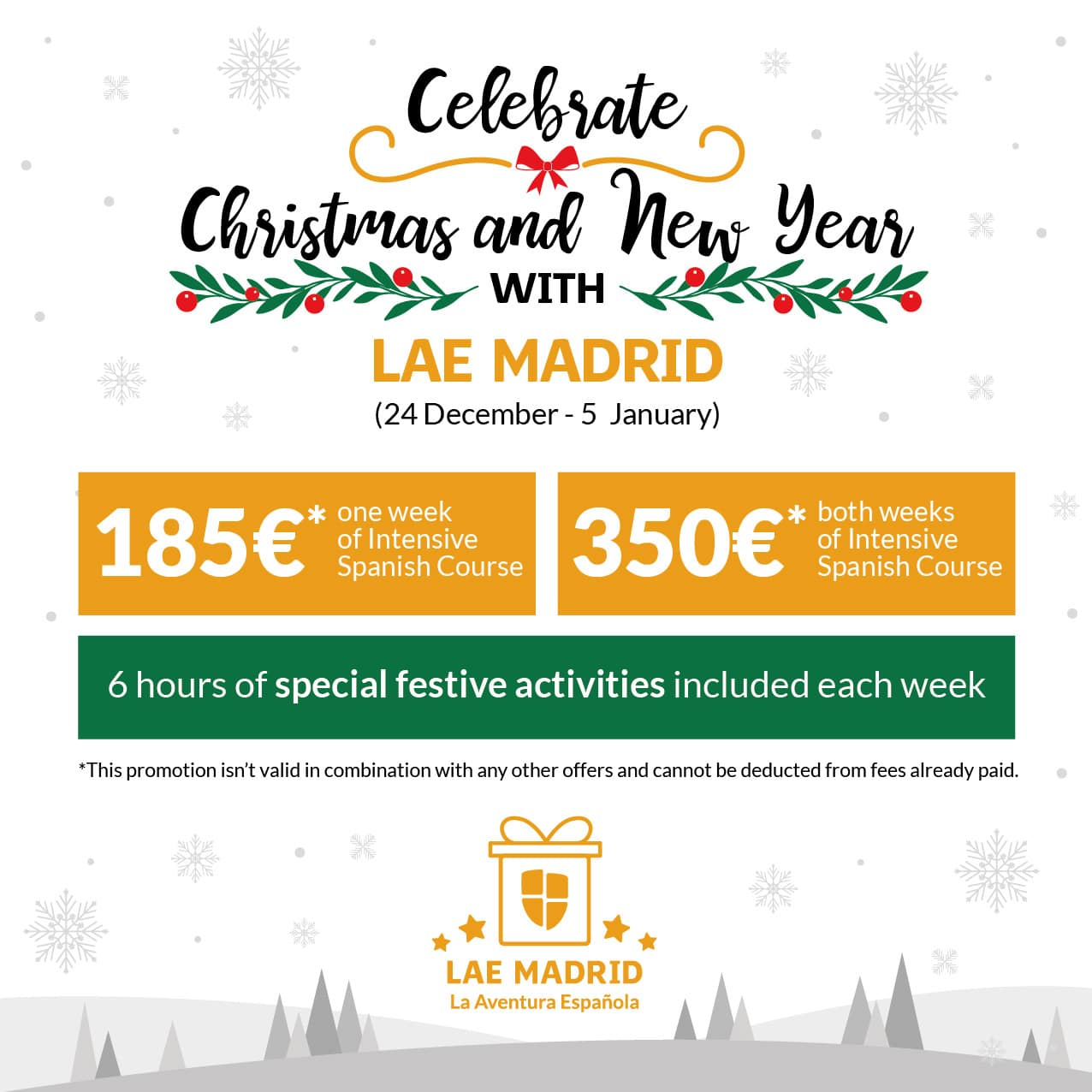 Christmas and New Year in Madrid