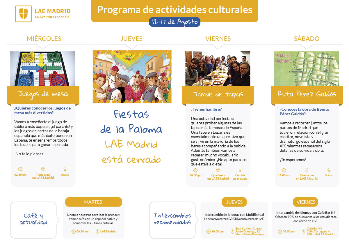 Cultural activities in Madrid